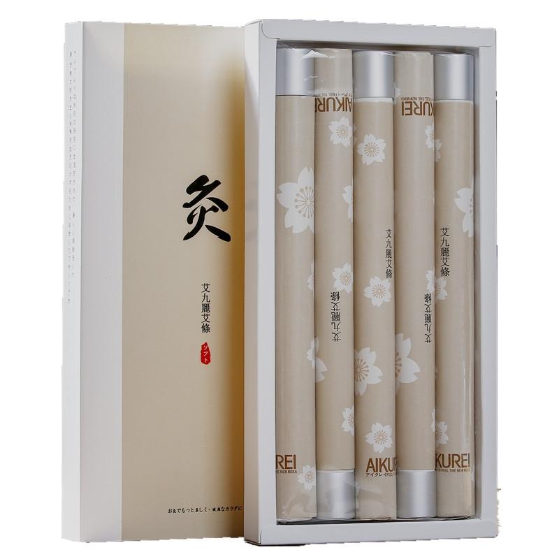 日本热销艾灸棒纯艾黄金艾条家用艾柱艾灸野生精品艾草艾绒5支装